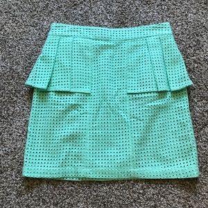 Mint Green Mini Peplum Skirt